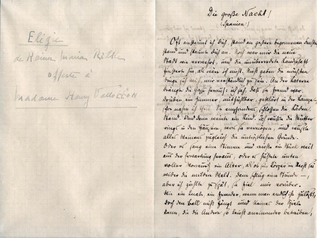 Élégie offerte à Madame Henry Vallotton