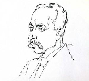 Portrait de Rilke 1917, Emil Orlik (1870-1932)