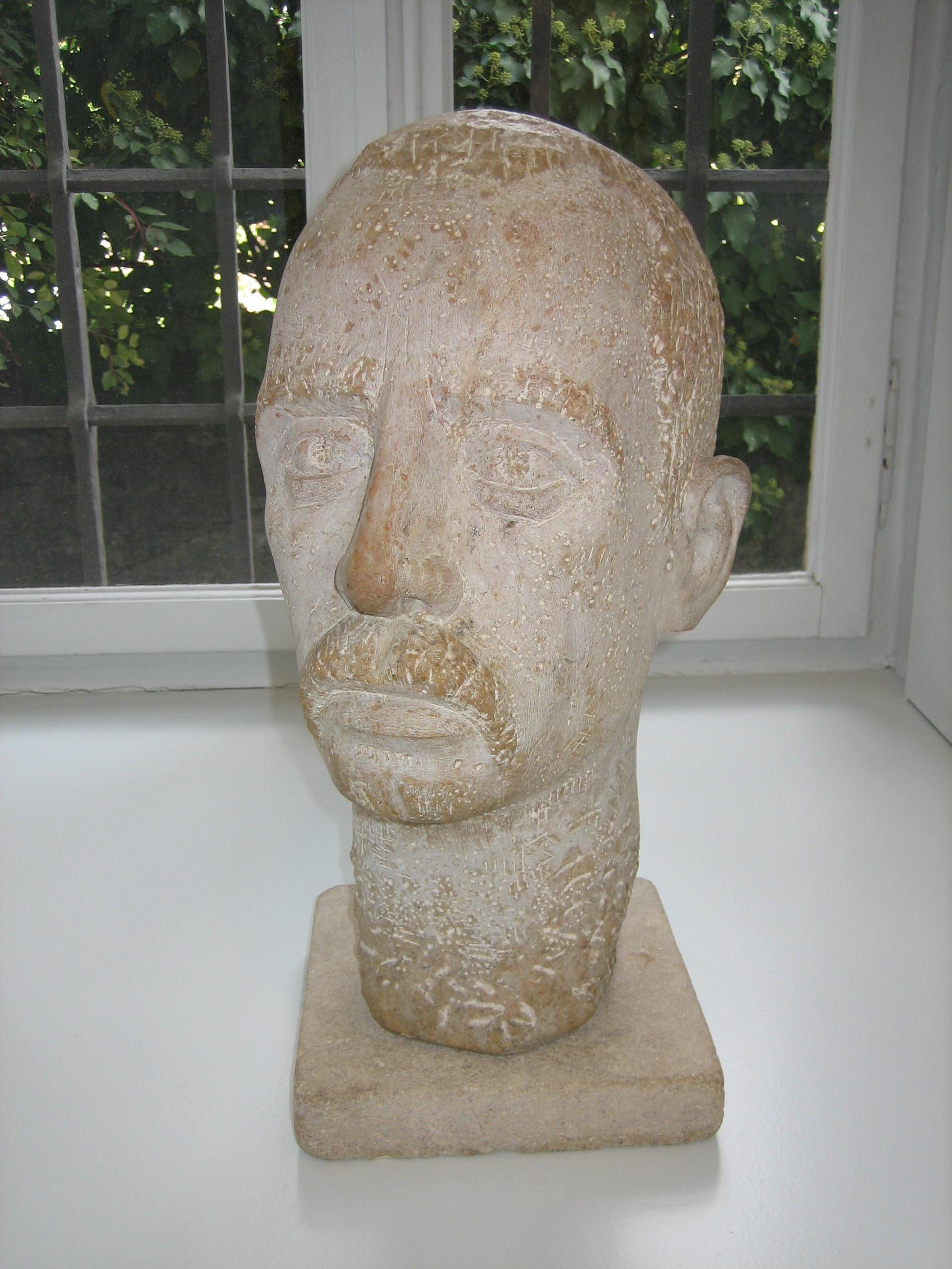 Buste de Rilke, donation de Madame Jeannette Plaschy–Gischig