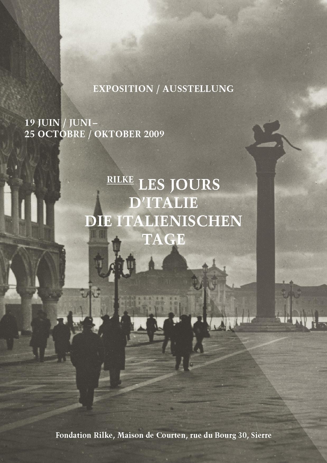 Flyer de l'exposition les jours d'Italie / die italianischen Tage, 2009