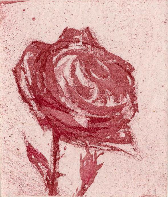 Gravure de Gérard de Palézieux, Les Roses, Gonin 1989