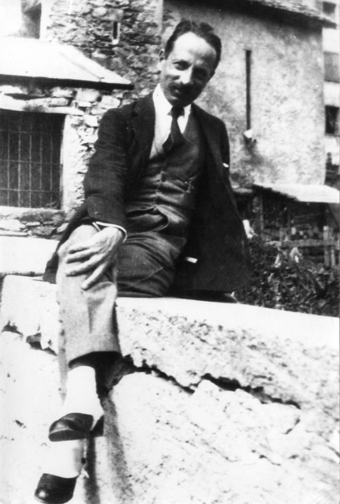 Rilke à Sierre, autour des années 1920 (Archives littéraires suisses, ALS, Berne)
