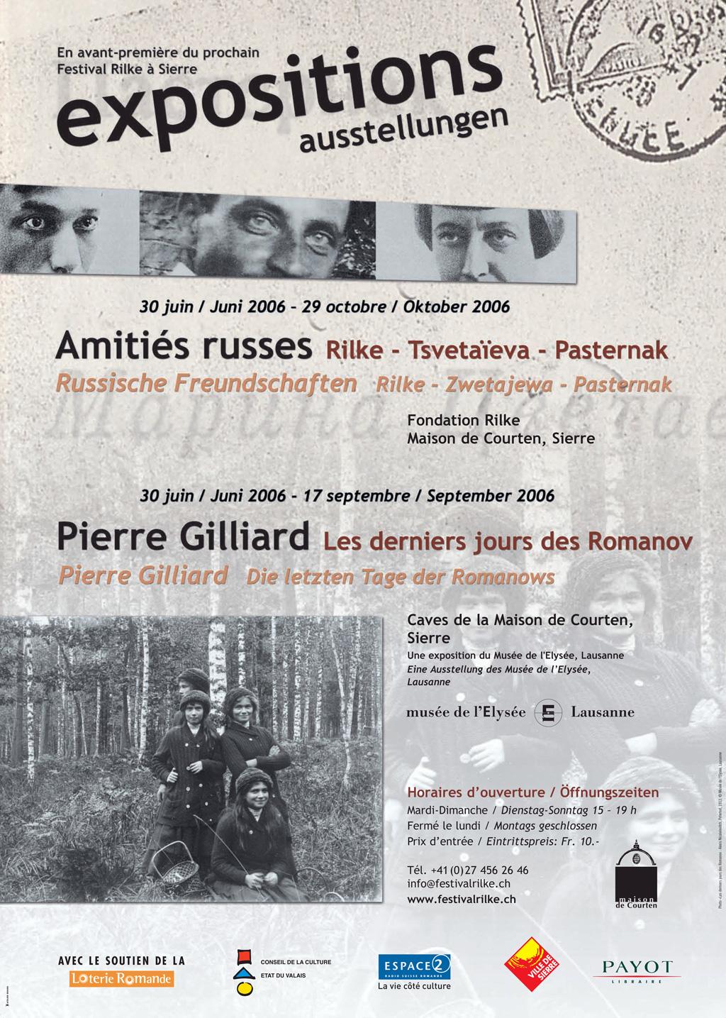 Affiche du festival Rilke, 2006