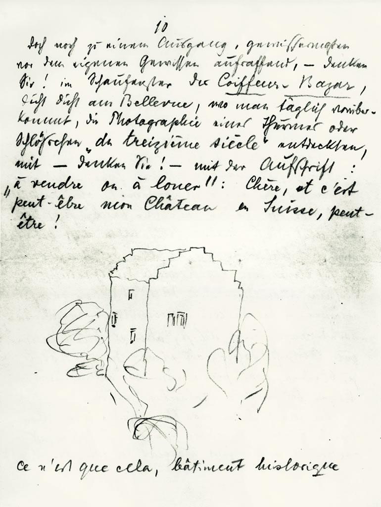 Lettre à Nanny Wunderly Volkart, 4 juillet 1921 (Archives littéraires suisses, ALS, Berne)