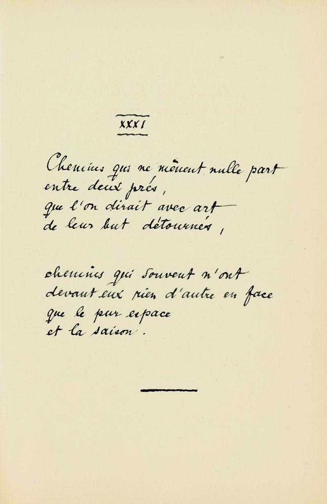 Les Quatrains Valaisans, XXXI, 1920