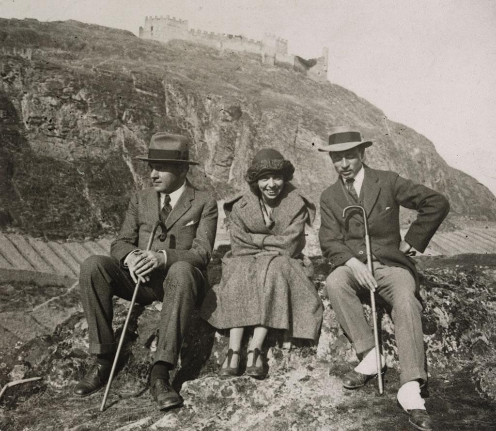 Rilke, Alma Moodie et Werner Reinhart à Sion en 1923 (Archives littéraires suisses, ALS, Berne)