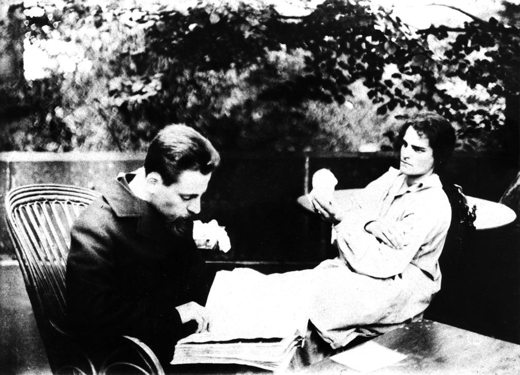 Clara Westhoff-Rilke und Rainer Maria Rilke, 1906