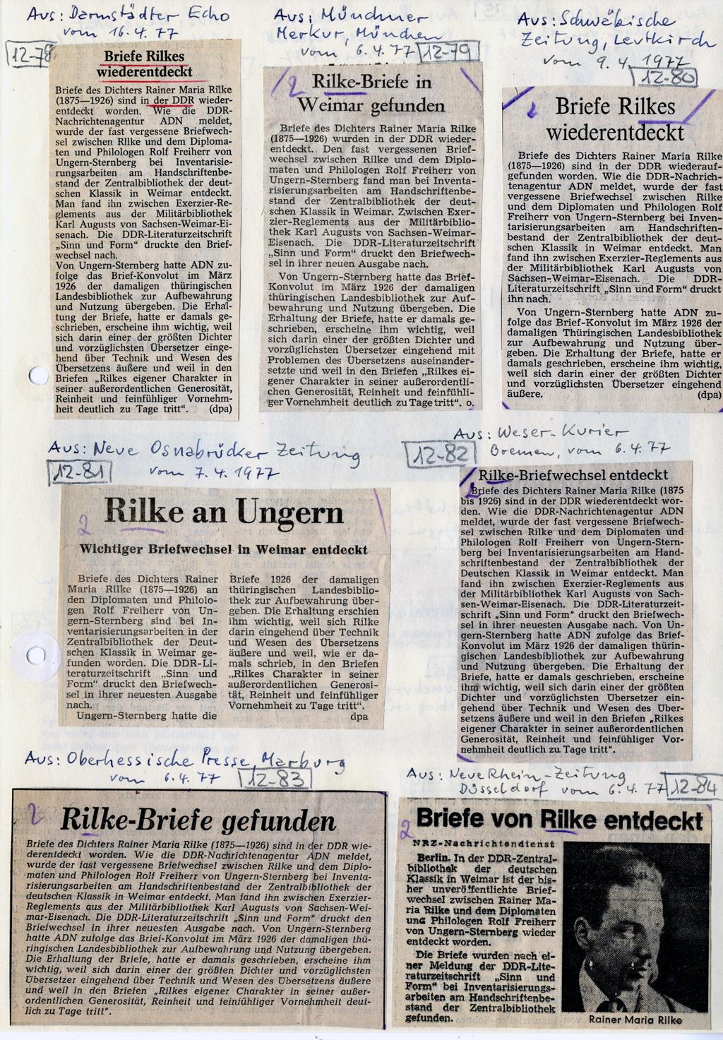Sammlung K. Klutz